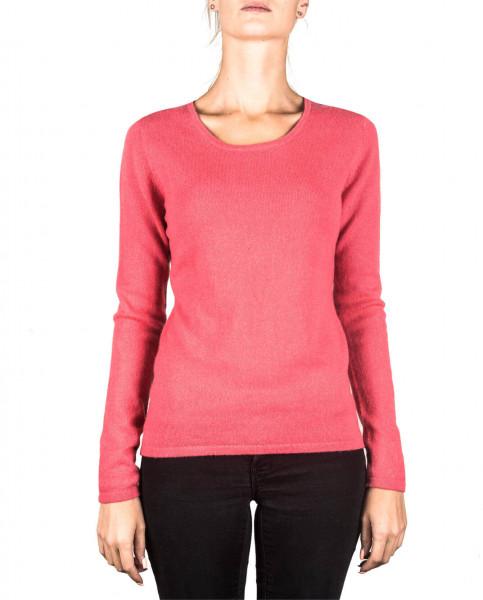 virtual pink kaschmir rundhals damen pullover frontfoto
