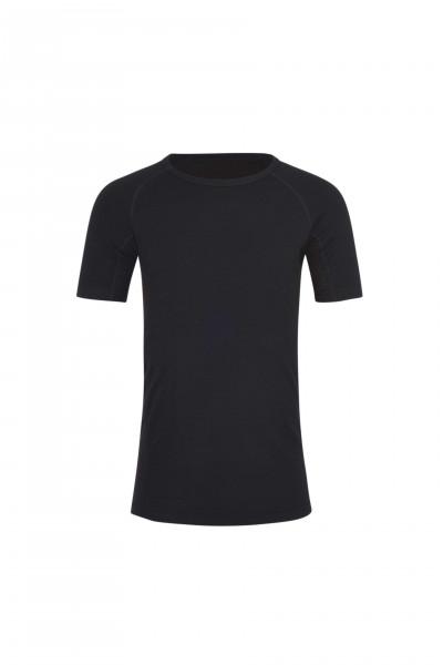 High Performance Kaschmir Sportwäsche T-Shirt schwarz von vorne
