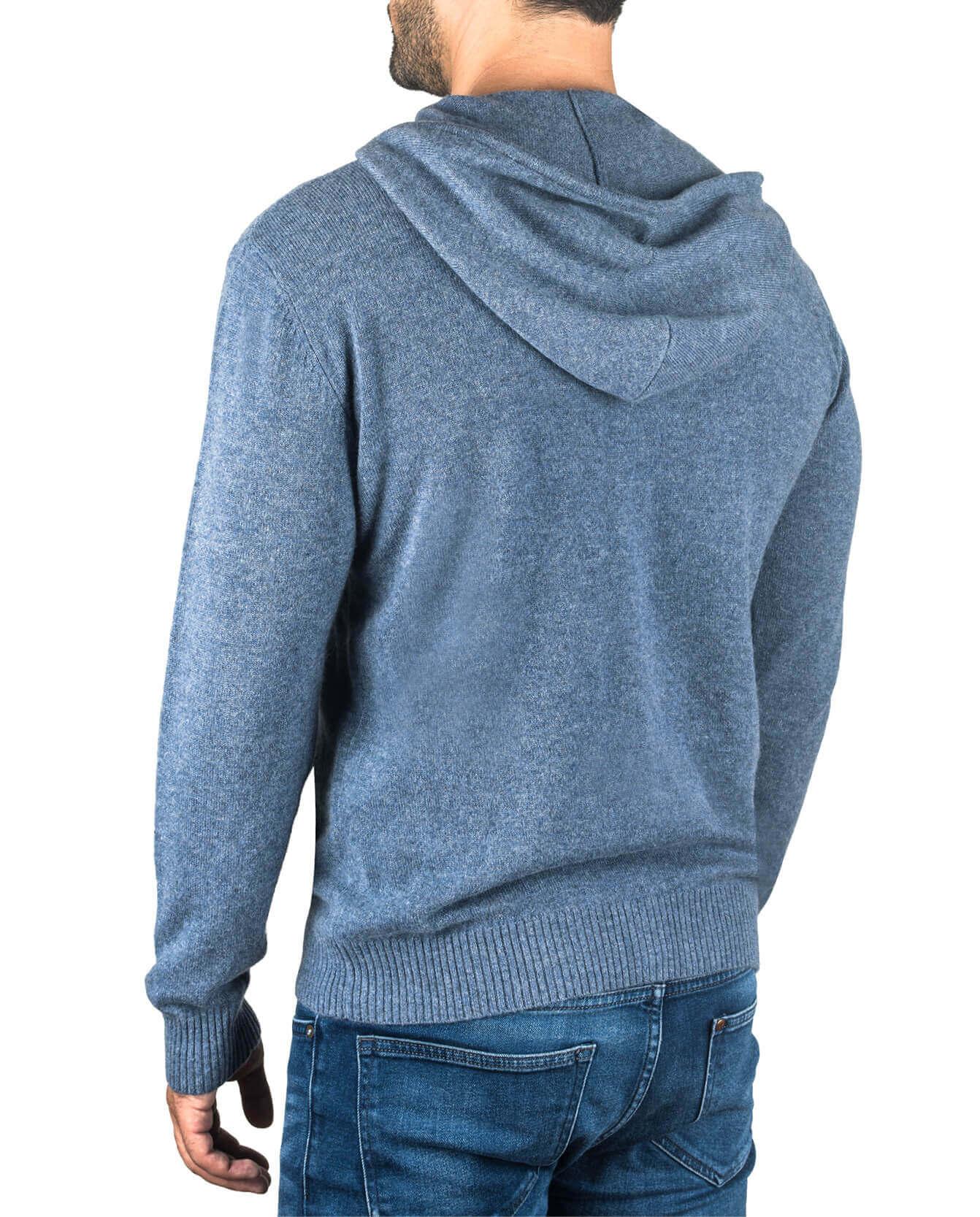 Kaschmir Kapuzenpullover Hoodie jeans blau