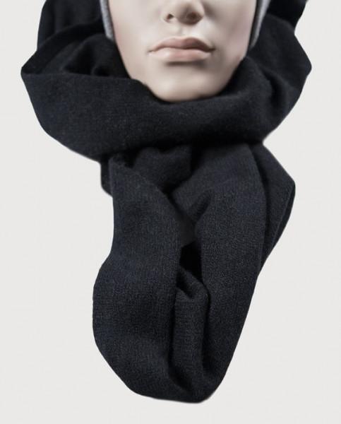 schwarzer kaschmir schal