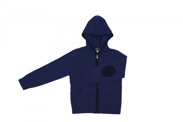Kaschmir Kapuzenpullover Hoodie indigo blau