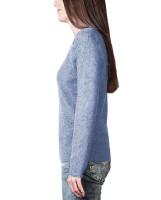 lila kaschmir rollkragen damen pullover frontfoto