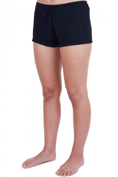 schwarze kaschmir shorts