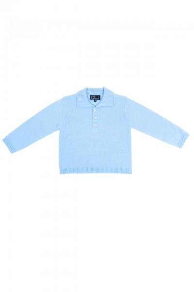 hellblau kaschmir baby polo pullover