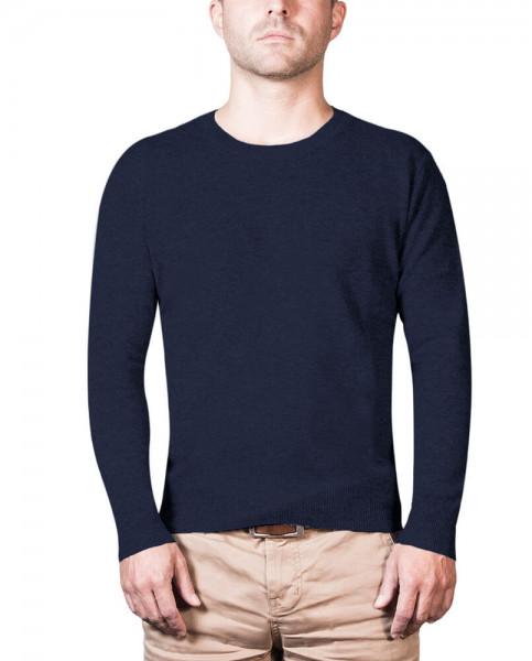 marine blauer kaschmir rundhals herren pullover frontfoto
