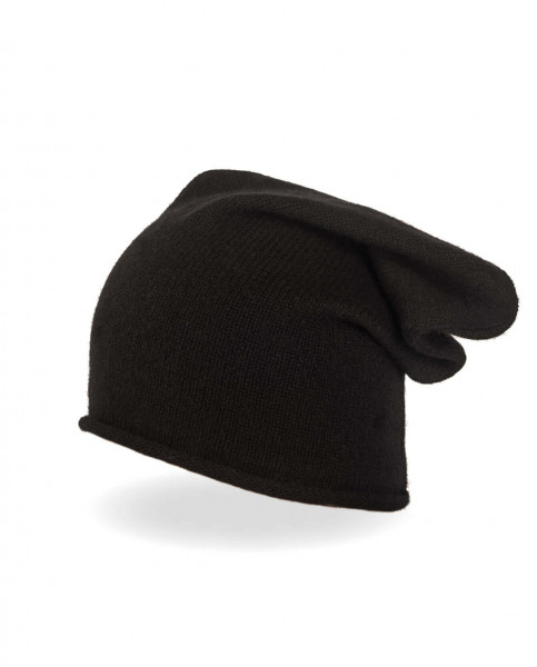 schwarzer kaschmir beanie