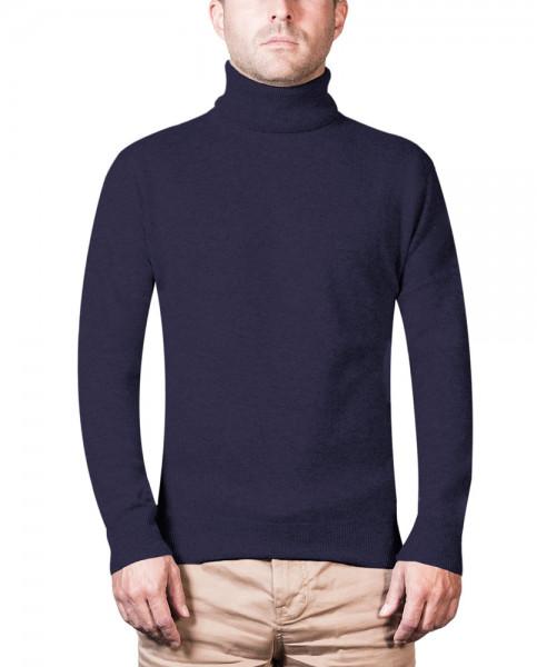 Kaschmir Rollkragen Pullover marine blau (Outlet) frontbild