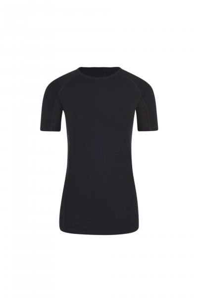 High Performance Kaschmir Sportwäsche T-Shirt schwarz von hinten
