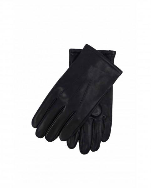 Lederhandschuhe mit Kaschmirfutter und Touchscreen tauglich schwarz