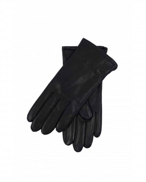 Lederhandschuhe mit Kaschmirfutter und Touchscreen tauglich schwarz frontbild