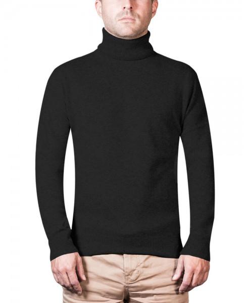 schwarzer kaschmir rollkragen herren pullover frontfoto