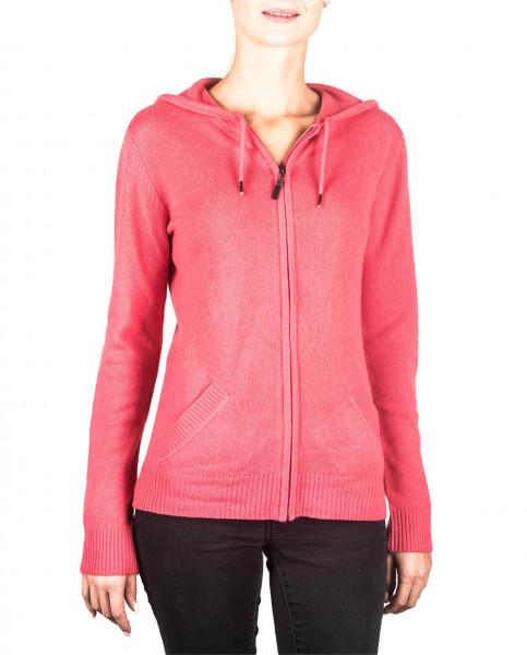 virtual pink kaschmir damen kapuzenpullover frontfoto