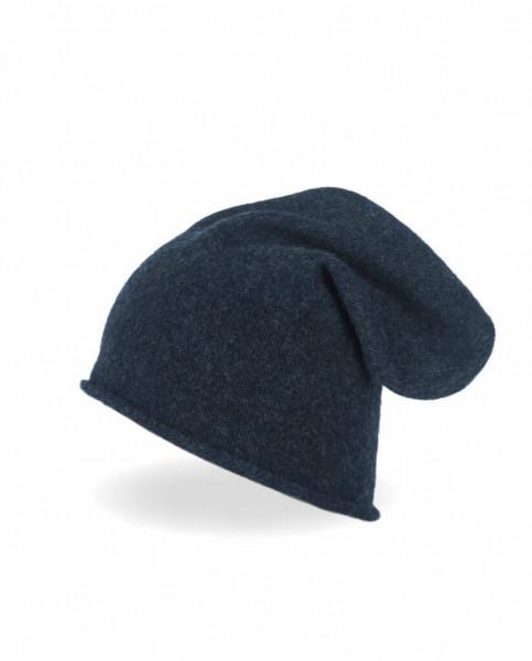 marine blauer kaschmir beanie